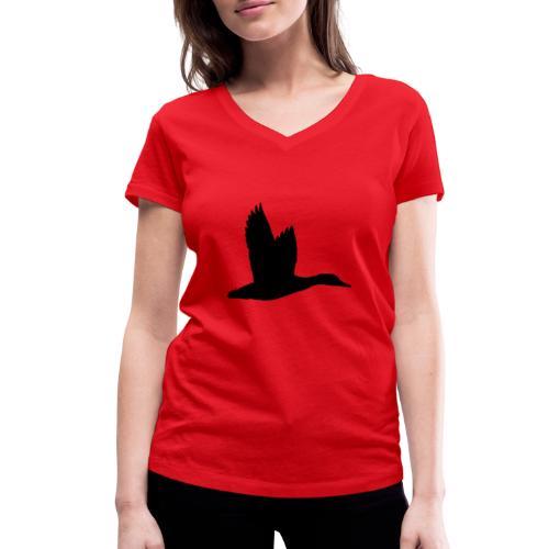 T-shirt canard personnalisé avec votre texte - T-shirt bio col V Stanley & Stella Femme