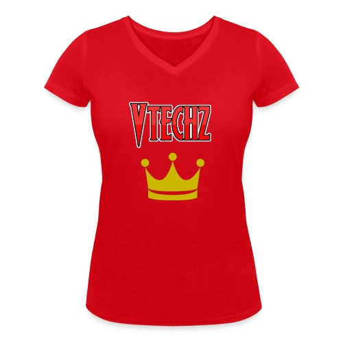 Vtechz King - Women's Organic V-Neck T-Shirt by Stanley & Stella