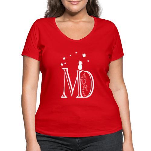 MadriG - Camiseta ecológica mujer con cuello de pico de Stanley & Stella