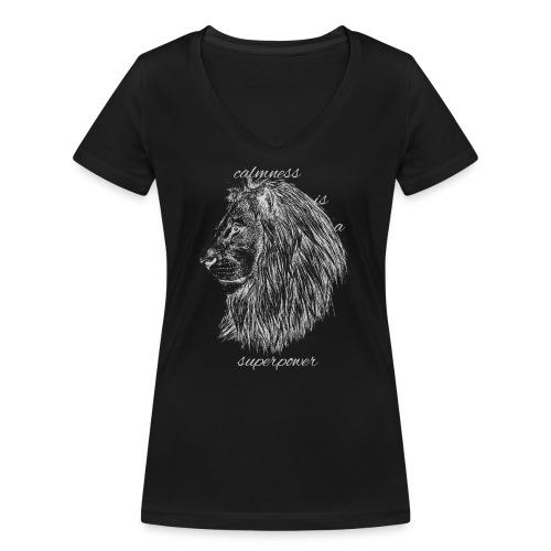 Calmness is a superpower - T-shirt ecologica da donna con scollo a V di Stanley & Stella