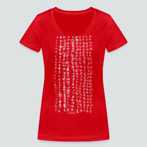 Labugraphie 1 png - Frauen Bio-T-Shirt mit V-Ausschnitt von Stanley & Stella