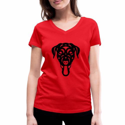 Labrador Dorianna - Frauen Bio-T-Shirt mit V-Ausschnitt von Stanley & Stella