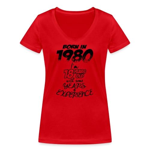 born In1980 - Women's Organic V-Neck T-Shirt by Stanley & Stella