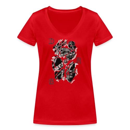 DRAGSTER WEAR - T-shirt ecologica da donna con scollo a V di Stanley & Stella
