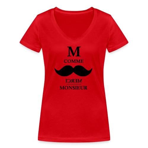 M comme MM - T-shirt bio col V Stanley & Stella Femme