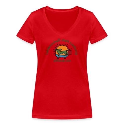 Ullihunde - Leidenschaft statt Leistung - Frauen Bio-T-Shirt mit V-Ausschnitt von Stanley & Stella