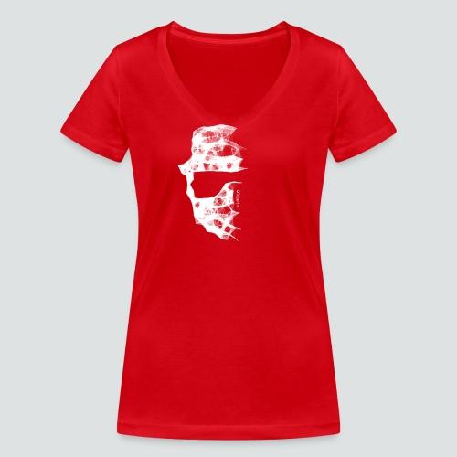 Totenkopf2 png - Frauen Bio-T-Shirt mit V-Ausschnitt von Stanley & Stella