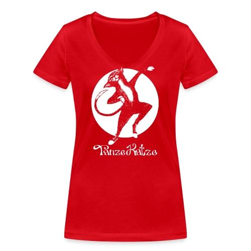 TanzeKatze - Frauen Bio-T-Shirt mit V-Ausschnitt von Stanley & Stella