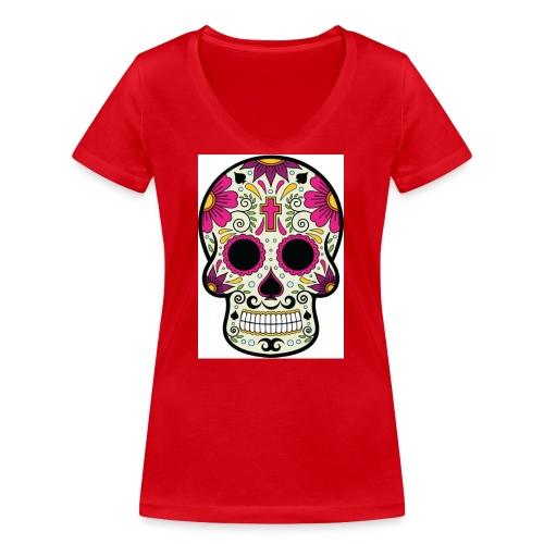 tête messico - T-shirt bio col V Stanley & Stella Femme