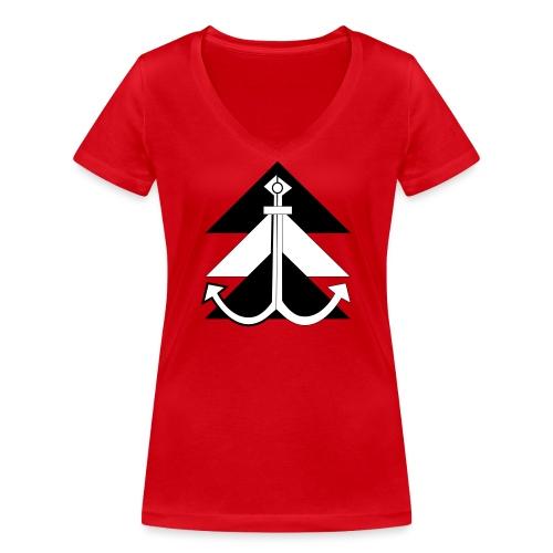 Anker 1 - Frauen Bio-T-Shirt mit V-Ausschnitt von Stanley & Stella