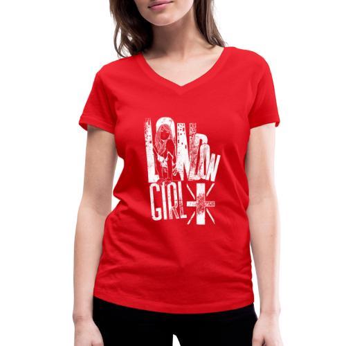 London Girl - Frauen Bio-T-Shirt mit V-Ausschnitt von Stanley & Stella