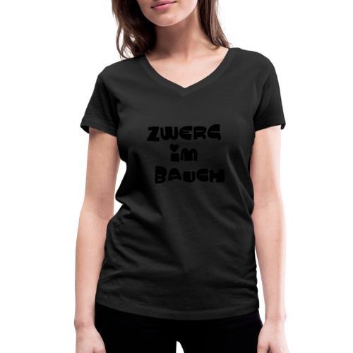 Zwerg im Bauch / Süßes Design für Schwangere - Frauen Bio-T-Shirt mit V-Ausschnitt von Stanley & Stella