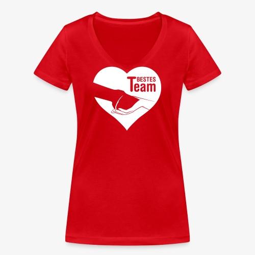 Vorschau: Bestes Team - Frauen Bio-T-Shirt mit V-Ausschnitt von Stanley & Stella