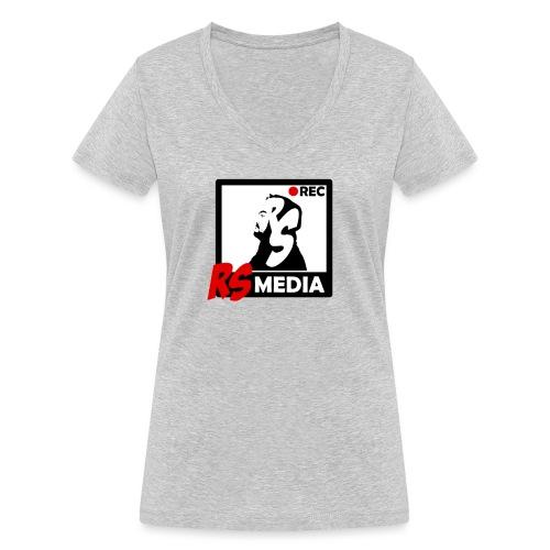 RS Media Logo - Frauen Bio-T-Shirt mit V-Ausschnitt von Stanley & Stella