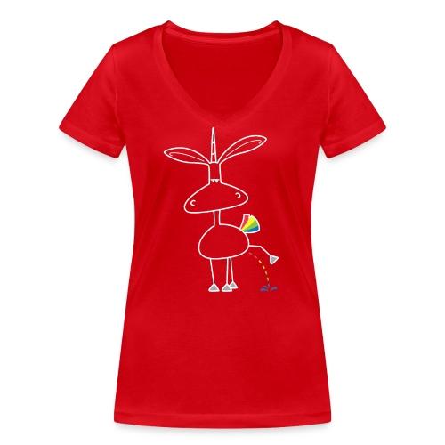 Dru - bunt pinkeln - Frauen Bio-T-Shirt mit V-Ausschnitt von Stanley & Stella