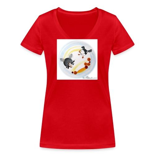 Le Ptit mouton d'Ouessant - T-shirt bio col V Stanley & Stella Femme
