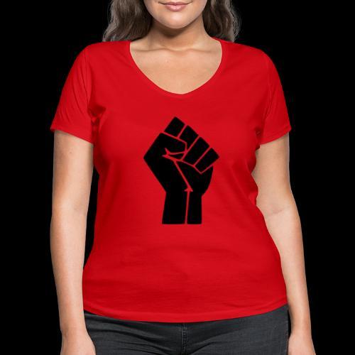 NEGRU LIVES MATTER - T-shirt bio col V Stanley & Stella Femme