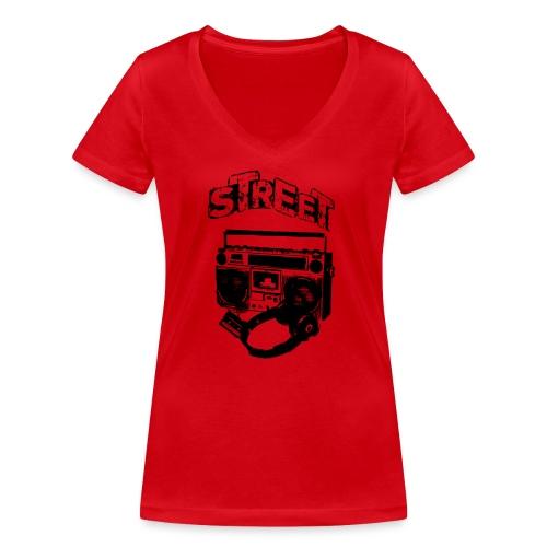 street 1 - Økologisk Stanley & Stella T-shirt med V-udskæring til damer