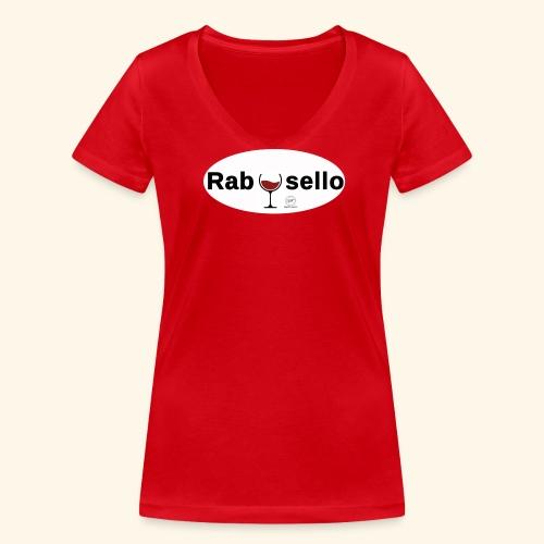 new rabosello - T-shirt ecologica da donna con scollo a V di Stanley & Stella