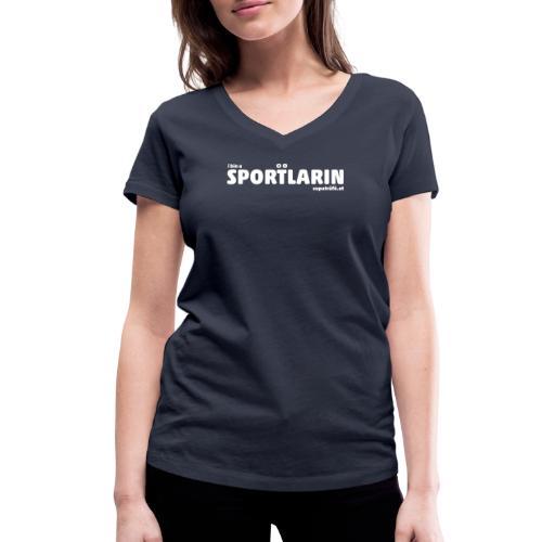 i bin a supatrüfö sportlarin - Frauen Bio-T-Shirt mit V-Ausschnitt von Stanley & Stella