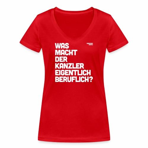 Kanzler - Frauen Bio-T-Shirt mit V-Ausschnitt von Stanley & Stella