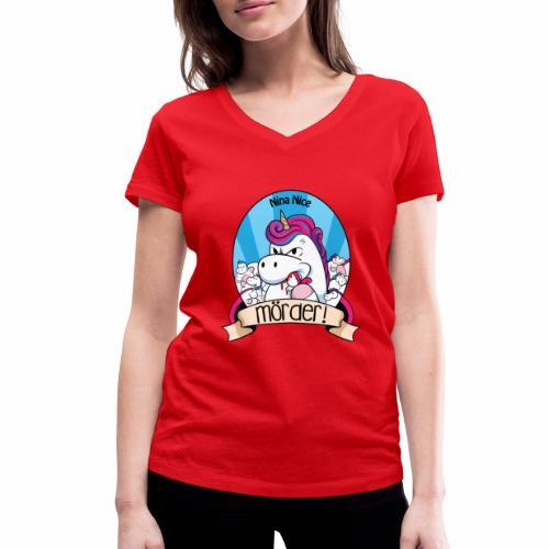 Murder Unicorn - Frauen Bio-T-Shirt mit V-Ausschnitt von Stanley & Stella