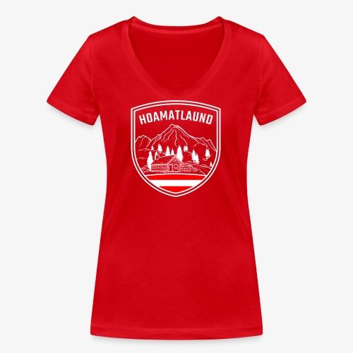 Hoamatlaund logo - Frauen Bio-T-Shirt mit V-Ausschnitt von Stanley & Stella