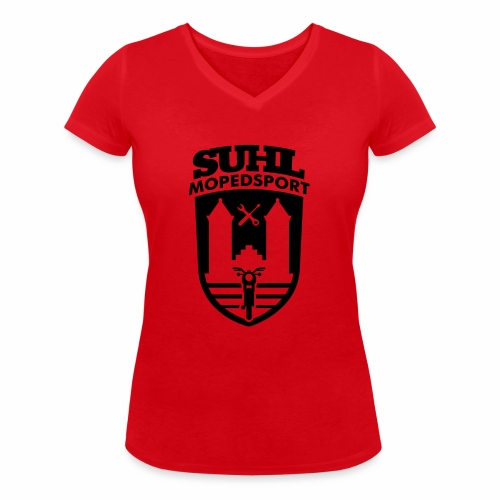 Suhl Mopedsport S50 / S51 Logo No.2 - Women's Organic V-Neck T-Shirt by Stanley & Stella