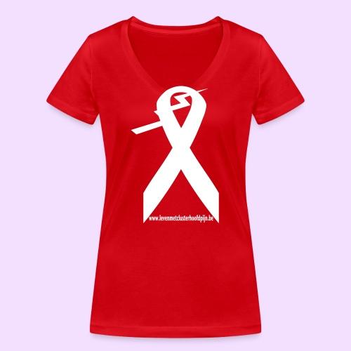 Clusterhoofdpijn logo 1kl - Vrouwen bio T-shirt met V-hals van Stanley & Stella