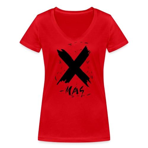 X-mas Merry Christmas - Frauen Bio-T-Shirt mit V-Ausschnitt von Stanley & Stella