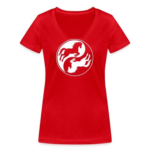 Vorschau: Horse Ying Yang - Frauen Bio-T-Shirt mit V-Ausschnitt von Stanley & Stella