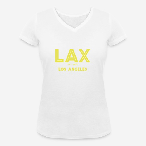 LAX è una buona idea!! - T-shirt ecologica da donna con scollo a V di Stanley & Stella