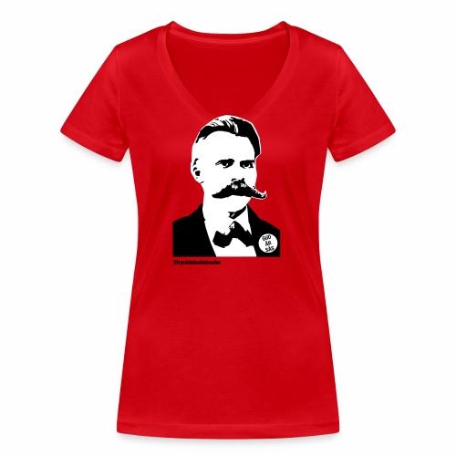 tryckfelsnietzsche_sås - Ekologisk T-shirt med V-ringning dam från Stanley & Stella