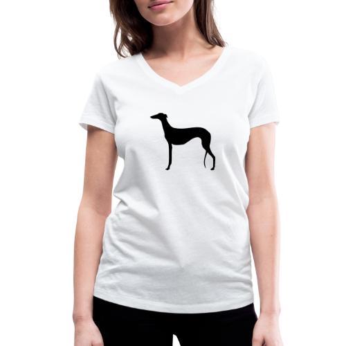 Galgo stehend - Frauen Bio-T-Shirt mit V-Ausschnitt von Stanley & Stella