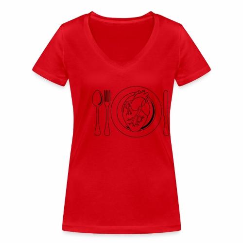 Es ist angerichtet. - Frauen Bio-T-Shirt mit V-Ausschnitt von Stanley & Stella