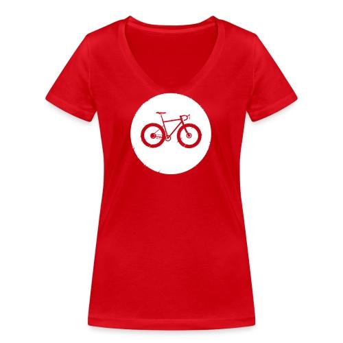 Bycicle Dot - Frauen Bio-T-Shirt mit V-Ausschnitt von Stanley & Stella