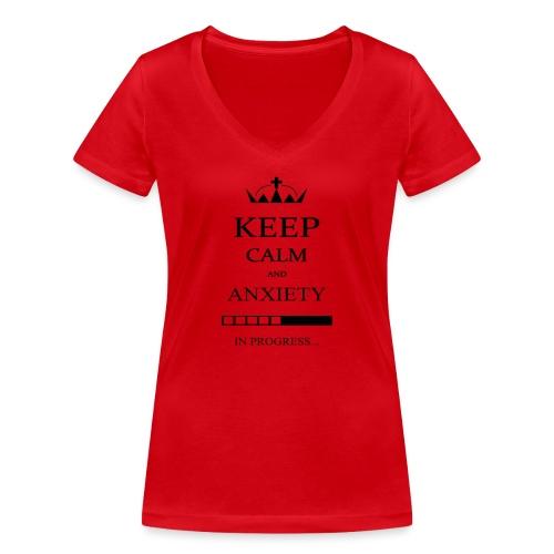 keep_calm - T-shirt ecologica da donna con scollo a V di Stanley & Stella