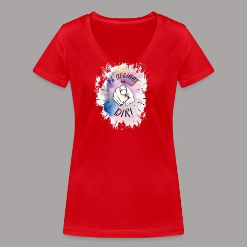 shirt bunt tshirt druck - Frauen Bio-T-Shirt mit V-Ausschnitt von Stanley & Stella