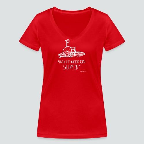 keep on Surfin png - Frauen Bio-T-Shirt mit V-Ausschnitt von Stanley & Stella