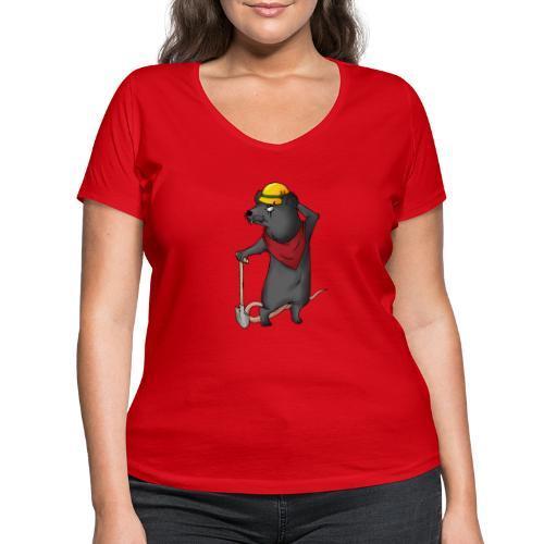 Arbeiter Ratte - Frauen Bio-T-Shirt mit V-Ausschnitt von Stanley & Stella