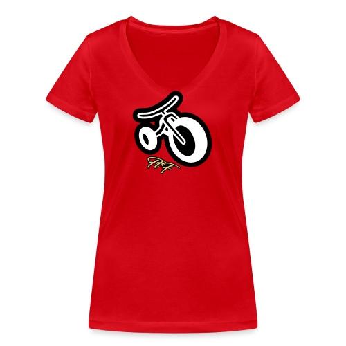 3cycle red white - T-shirt ecologica da donna con scollo a V di Stanley & Stella