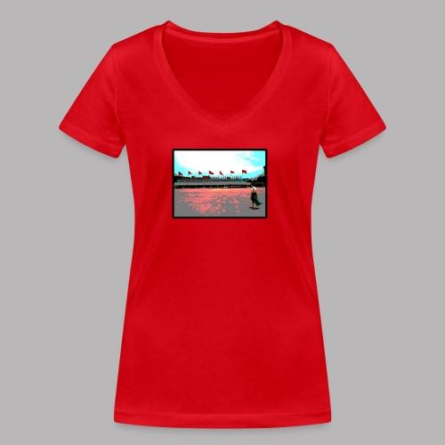 Ho Chi Minh - Women's Organic V-Neck T-Shirt by Stanley & Stella