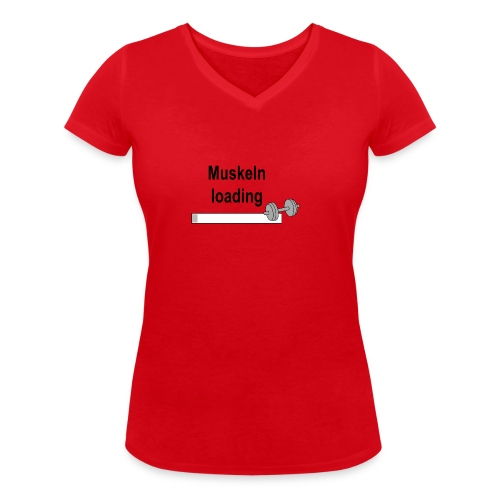 Muskeln loading - Frauen Bio-T-Shirt mit V-Ausschnitt von Stanley & Stella
