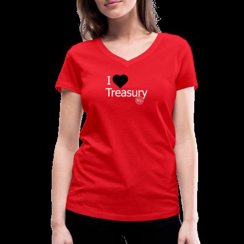 I LOVE TREASURY - Women's Organic V-Neck T-Shirt by Stanley & Stella