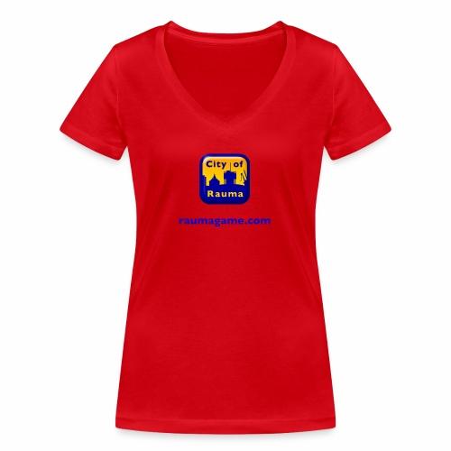 Raumagame logo - Stanley & Stellan naisten v-aukkoinen luomu-T-paita