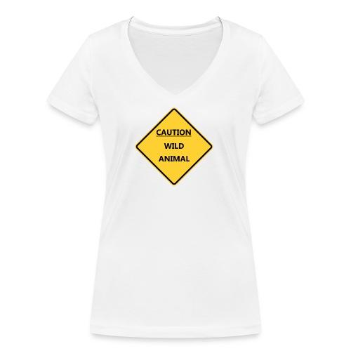 Caution Wild Animal - T-shirt bio col V Stanley & Stella Femme