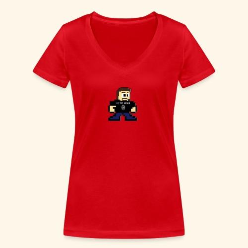 MASCOTTE A 8 BIT LO ZIO ARIAR - T-shirt ecologica da donna con scollo a V di Stanley & Stella
