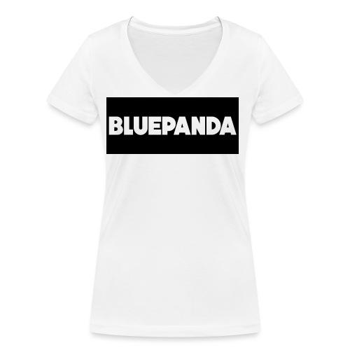 BLUE PANDA - Women's Organic V-Neck T-Shirt by Stanley & Stella