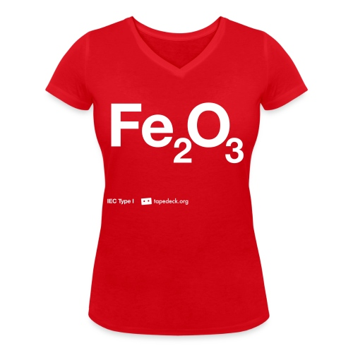 IEC Type I - Fe2O3 - Women's Organic V-Neck T-Shirt by Stanley & Stella