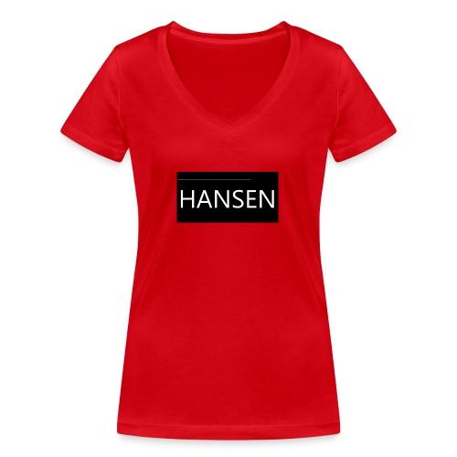 HANSENLOGO - Økologisk Stanley & Stella T-shirt med V-udskæring til damer